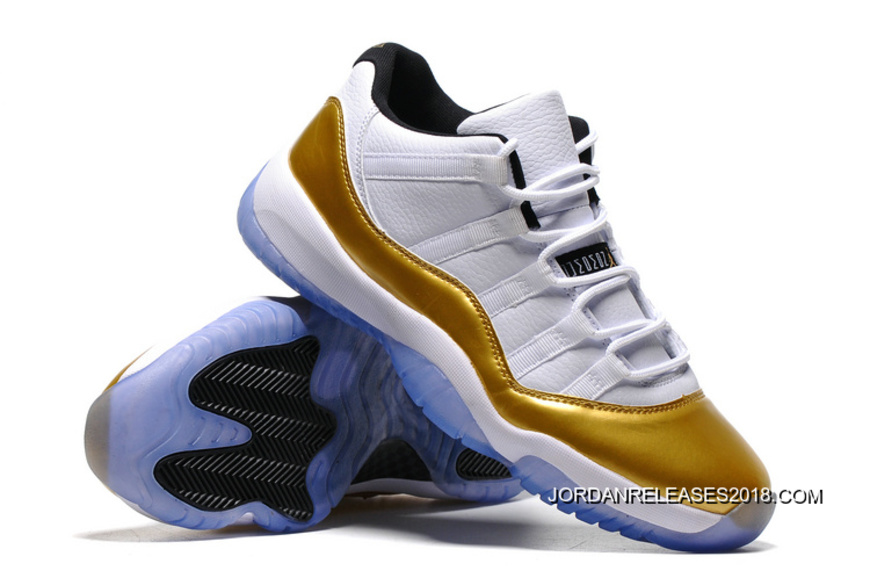 "huge discount d40f6 46a76 Air Jordan 11 Low ""Olympic"" White Metallic Gold Coin-Black Super Deals"