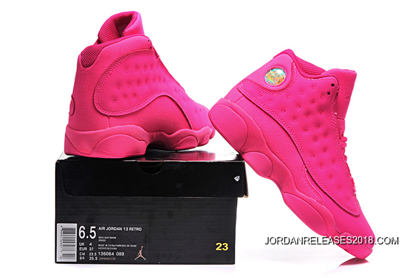 a06522d51233 2018 New Style New Air Jordan 13 GS All-Pink Shoes