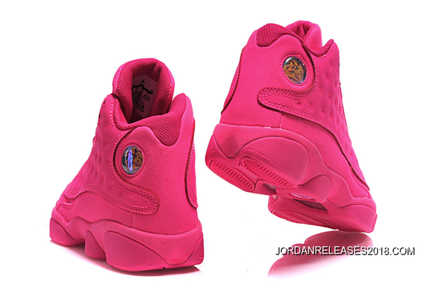online store 2ee30 70db6 2018 New Style New Air Jordan 13 GS All-Pink Shoes