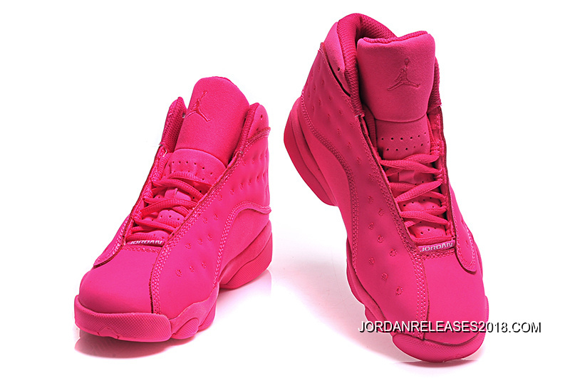 bf968a5b191 2018 New Style New Air Jordan 13 GS All-Pink Shoes