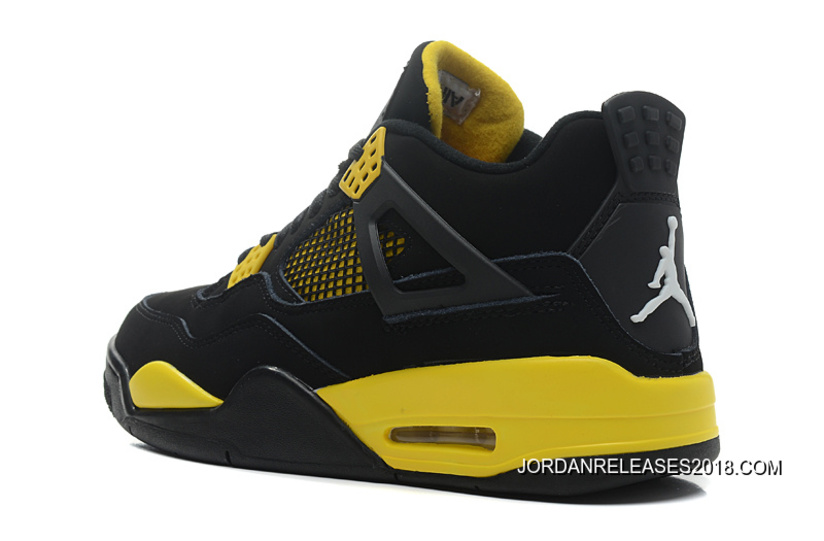 "e6d94a72b5ca 2018 Top Deals New Air Jordan 4 Retro ""Thunder"" Black White-Tour ..."