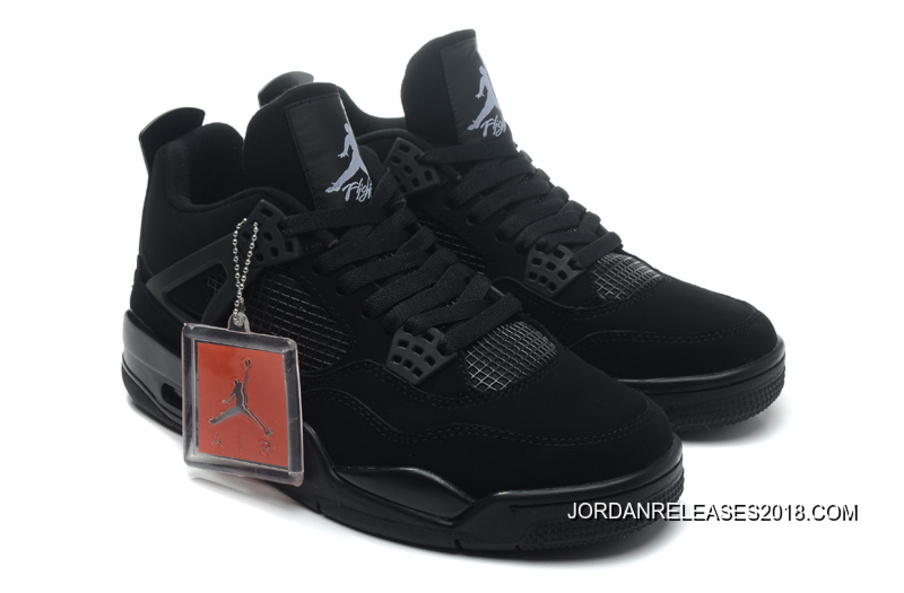 "free shipping 948a0 abb67 New Air Jordan 4 ""Black Cat"" Black Black-Light Graphite 2018 New"