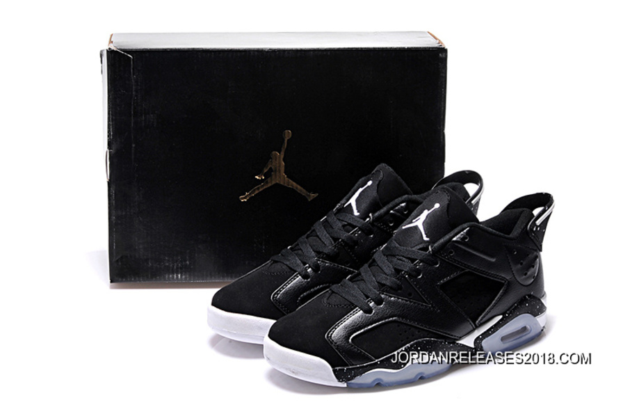 "4a799f61334ca7 New Air Jordan 6 Low GS ""Black Oreo"" 2018 Latest"
