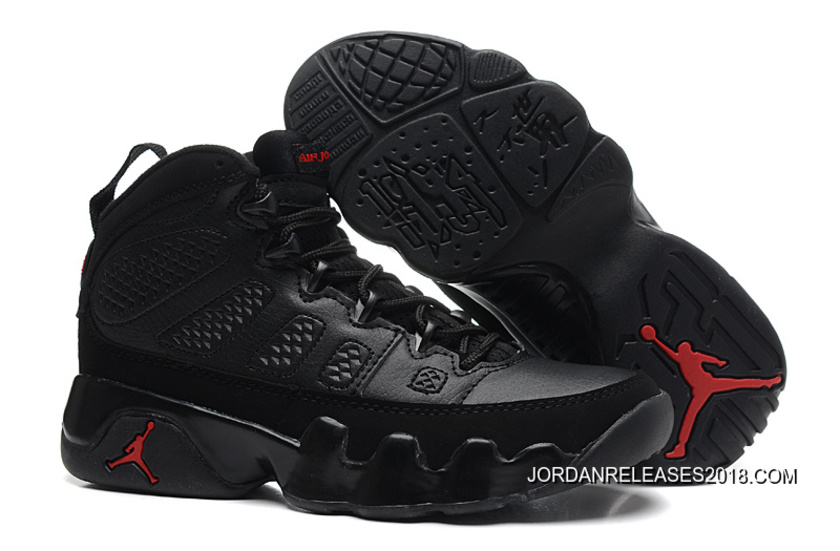 detailed look 045bb eb6e6 New Air Jordan 9 GS Black/Dark Charcoal-Varsity Red 2018 Latest