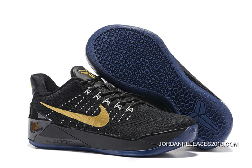d5a7bf6158c7 2018 For Sale Girls Nike Kobe A.D. Flyknit Black Gold