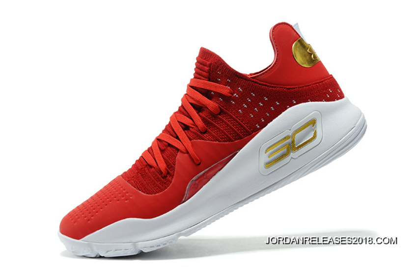 """5cef0c5a3ddb 2018 New Year Deals Girls Under Armour Curry 4 Low """"Wine"""" Red White ..."""