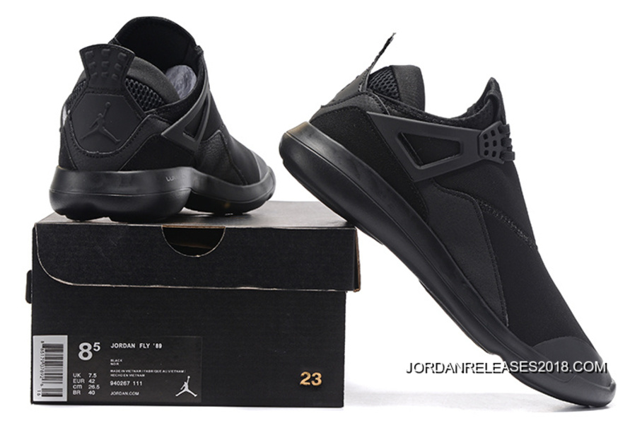 c1c7505311c 2018 Free Shipping New Jordan Fly  89 AJ4 All Black