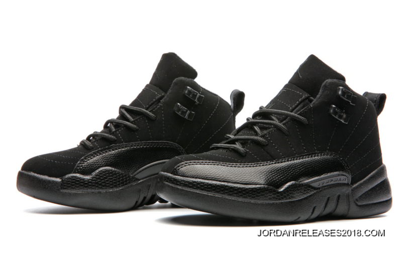 "5f6ed9726d5e Kids Air Jordan 12 ""Triple Black"" Best"