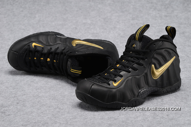 "huge selection of 012e7 d0f87 2018 Discount Nike Air Foamposite Pro ""Black Gold"""