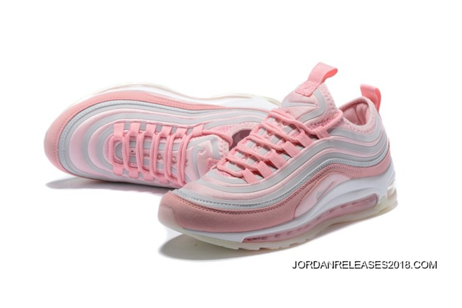 2018 Copuon WMNS Nike Air Max 97 Ultra '17 Vast GreySummit White Particle Rose