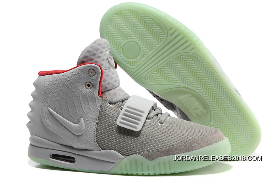 cc4244d83143c Nike Air Yeezy 2 Wolf Grey Pure Platinum Glow In The Dark 2018 Outlet