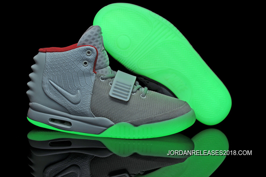 d5ef4e408b7a9 Nike Air Yeezy 2 Wolf Grey Pure Platinum Glow In The Dark 2018 Outlet