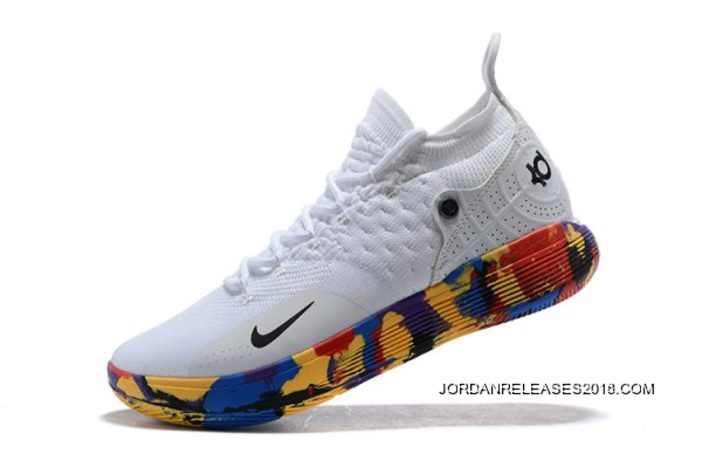 """99bf2ad73102 Where To Buy Nike KD 11 """"NCAA March Madness"""" White Multi-Color ..."""