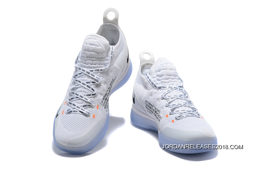 Off Basketball White x 11 Nike 2018 KD White Orange Shoes Black CxodBe