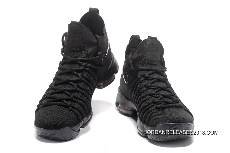 Nike Zoom KD 9 Elite All Black Basketball Shoes 2018 New Release ... 566887b3f