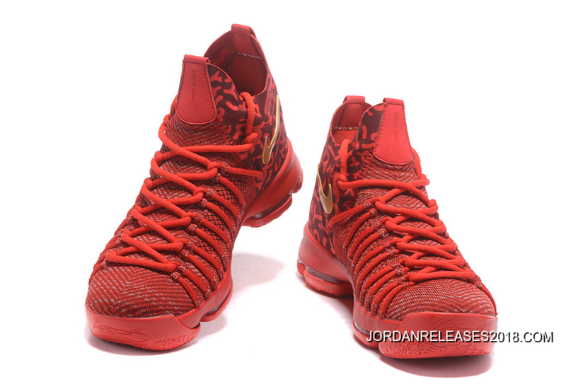 e247d6a1a087 Nike Zoom KD 9 Elite Varsity Red Gold Basketball Shoes 2018 New Release