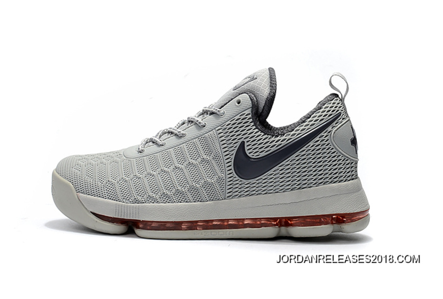 huge discount 995ec d7a77 Nike KD 9 Grey Red Basketball Shoes 2018 New Year Deals