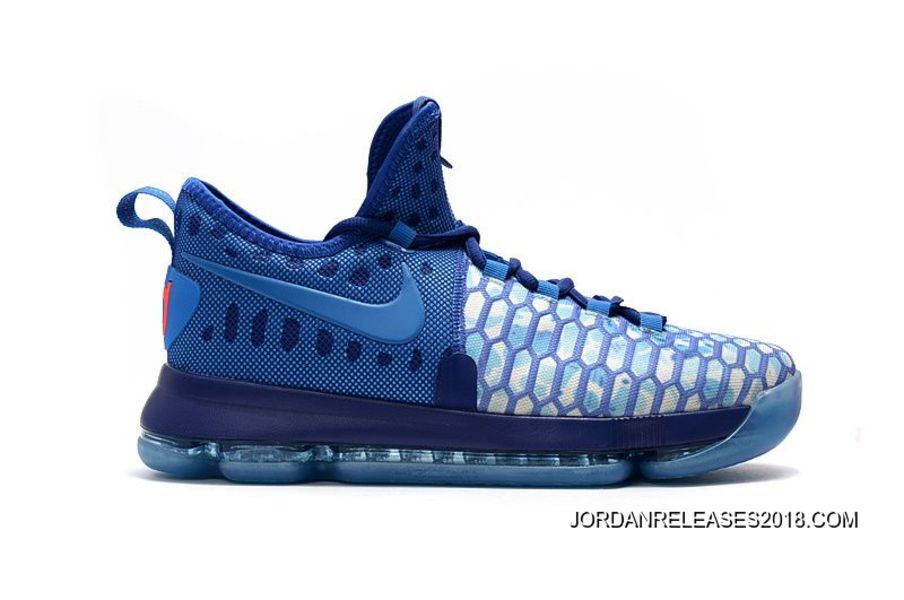 "best service b99d3 068d8 Nike KD 9 ""Fire   Ice"" Deep Royal Blue Photo Blue-University"