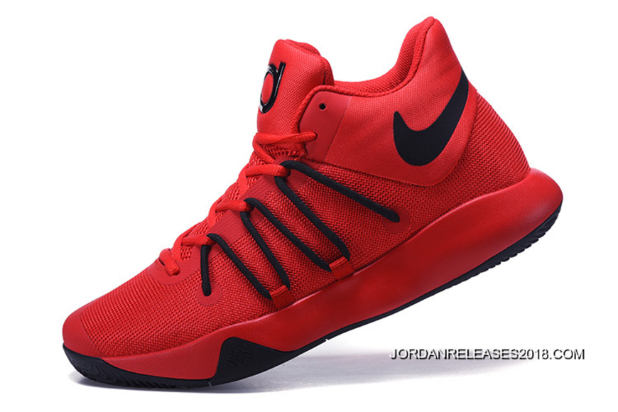sports shoes f0bb7 ece35 Nike KD Trey 6 Red Black Basketball Shoes 2018 New Style, Price ...