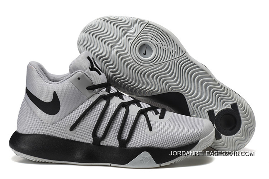 10720aa15af8 2018 New Release Nike KD Trey 6 Grey Black Basketball Shoes