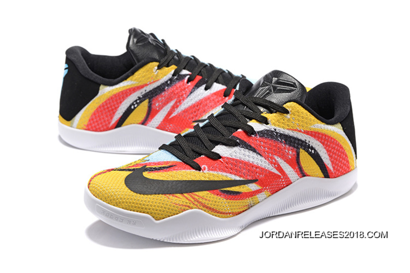 "official photos a72c9 e584f Nike Kobe 11 Elite Low ""Sun WuKong"" Mens Basketball Shoes New Style"