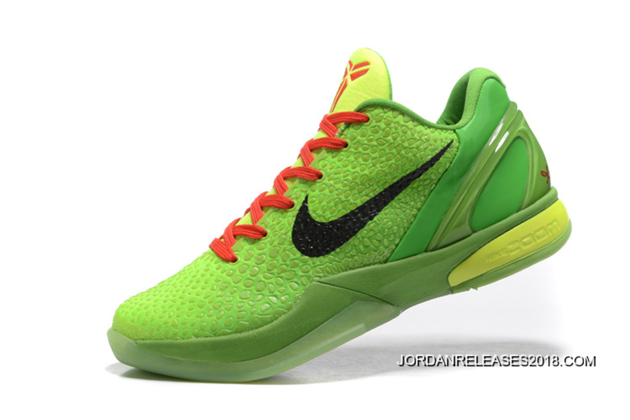 ... wholesale 2018 best nike zoom kobe 6 grinch christmas green mamba  basketball shoes 290a8 40fda bf47aac82