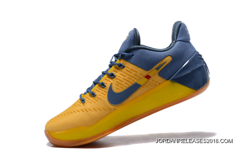 """more photos 259dd 7991f 2018 New Style Nike Kobe A.D. """"Bruce Lee"""" Yellow Navy Blue"""