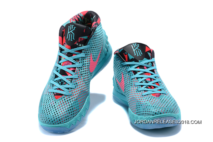 """b6ffcb45420 Nike Kyrie 1 """"Christmas"""" PE Turquoise Teal Hyper Pink New Year Deals ..."""