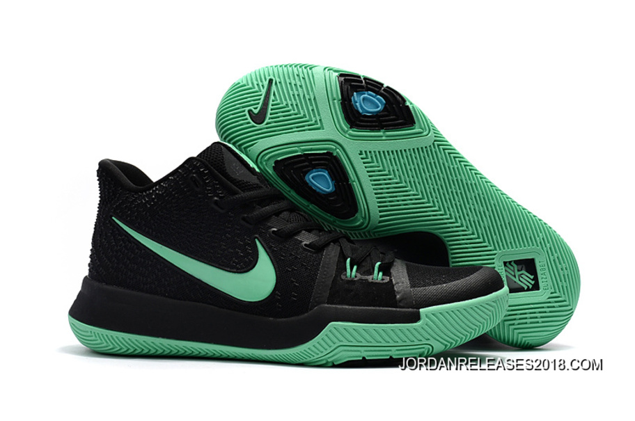 "sale retailer be682 7bff8 Nike Kyrie 3 ""Black Green"" Top Deals"