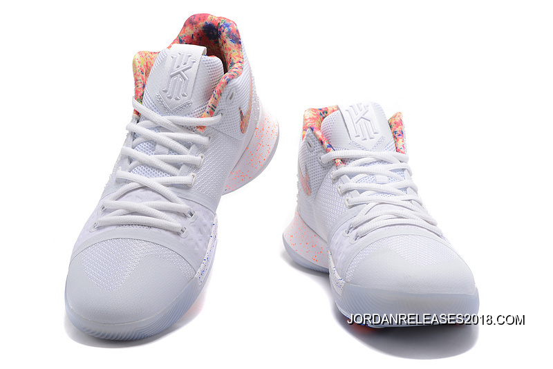 "best service ed72b d1e81 2018 For Sale Nike Kyrie 3 ""EYBL"" Pure Platinum/Multi-Color-Black"
