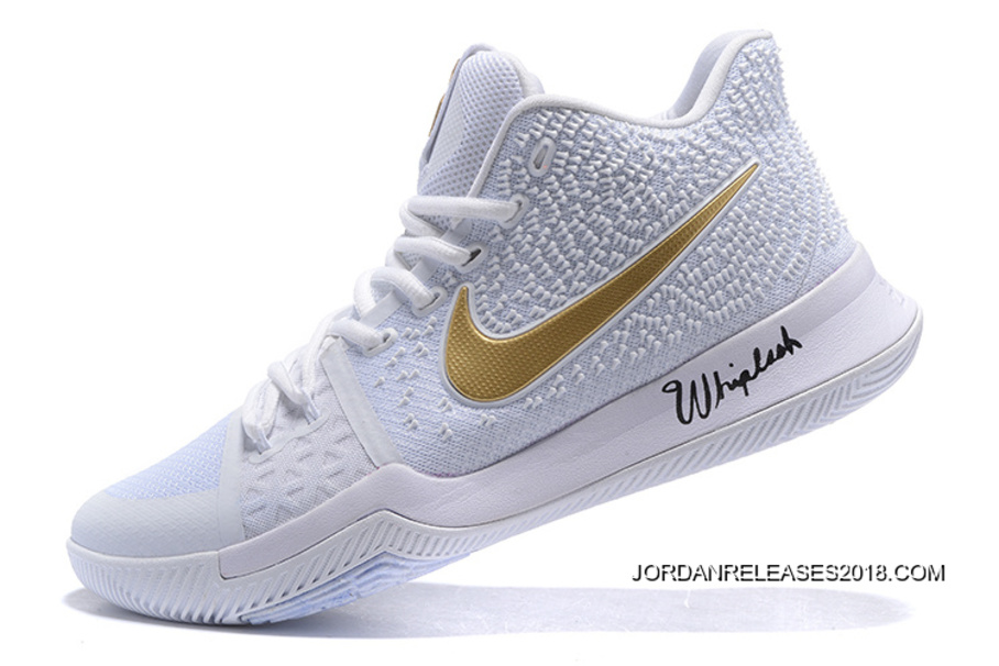 """new product f070e d40a0 Nike Kyrie 3 """"White Gold"""" Christmas PE 2018 New Release"""