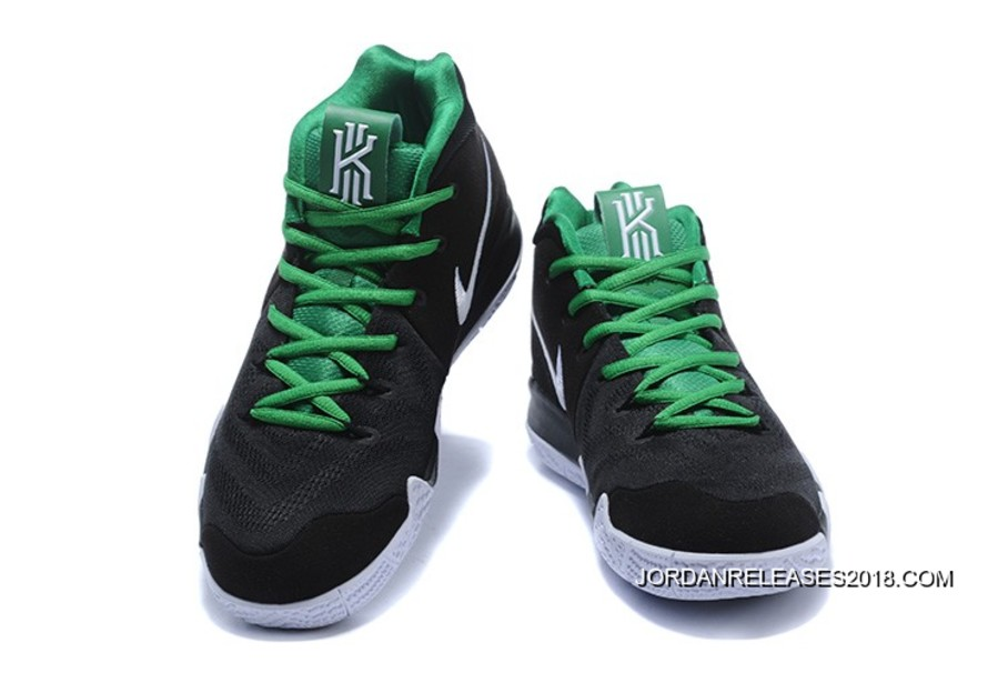 91c9537f81c6 Nike Kyrie 4 Black White Green 2018 New Year Deals