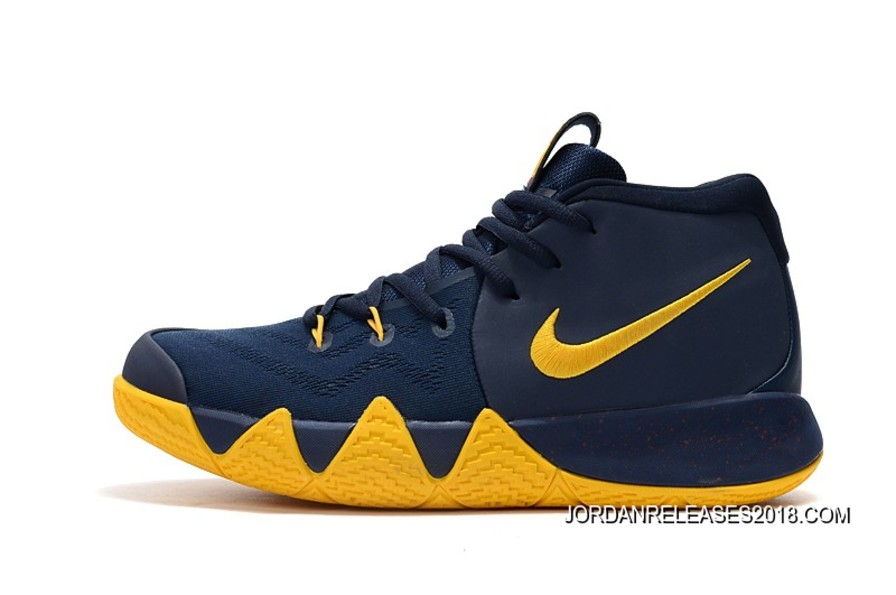 """5db177151c18 2018 For Sale Nike Kyrie 4 """"Cavs"""" Midnight Navy Yellow"""
