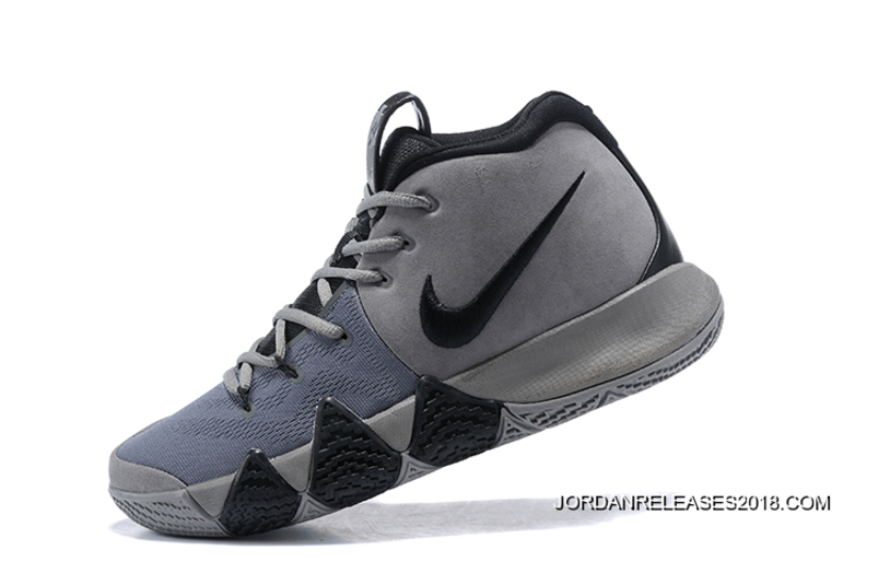 2018 New Release Nike Kyrie 4 Wolf Grey Black 4fe46b5a5