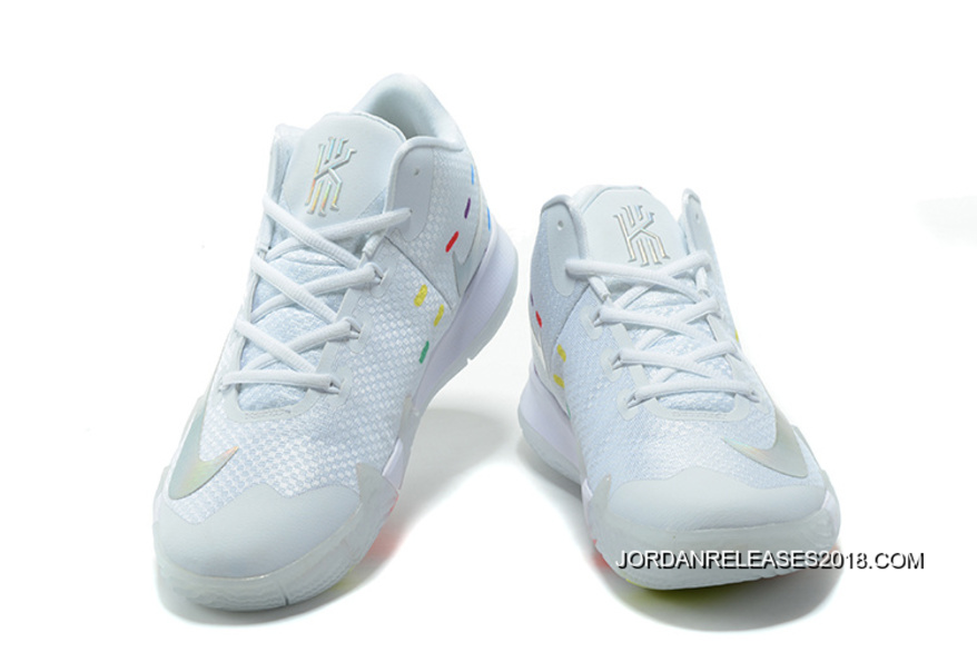 """a611fe245115 Discount Nike Kyrie 4 """"Iridescent Swoosh"""" Glow In The Dark Soles ..."""