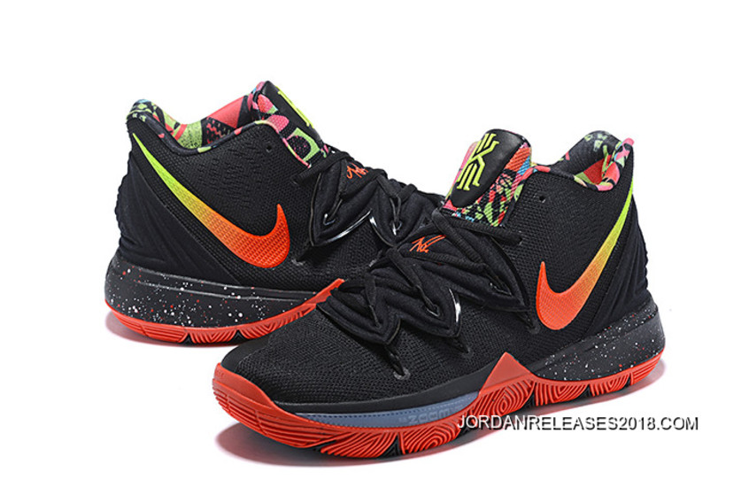 4bc82a7accf8 Tax Free Nike Kyrie 5 Black Red-Volt-Pink