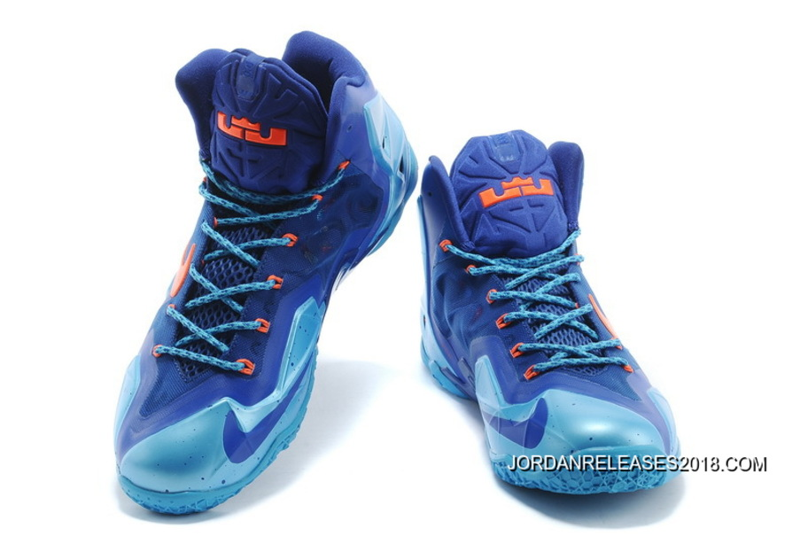 "9e1134963c53 Free Shipping Nike LeBron 11 ""World Champion"" Royal Blue Gamma Blue-Orange"