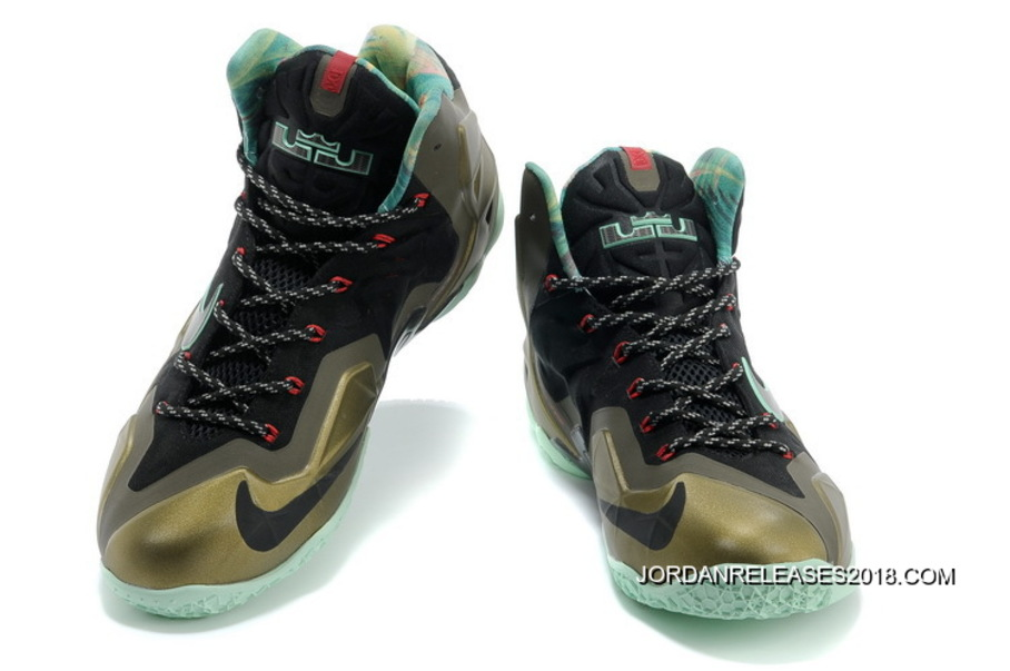 "quality design a7910 98ca3 2018 New Year Deals Nike LeBron 11 ""King s Pride"" Parachute Gold Arctic  Green"
