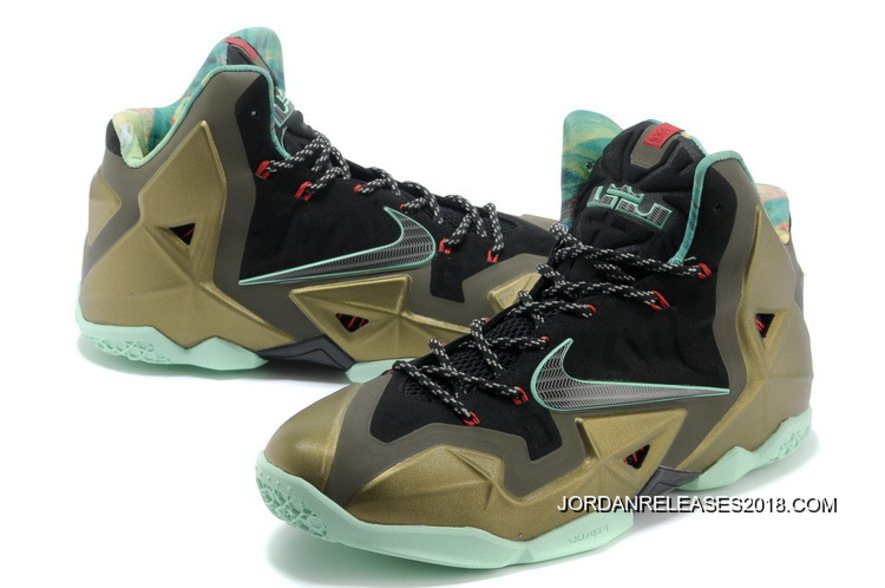 best sneakers 3939e 8b7d9 ... best price 2018 new year deals nike lebron 11 kings pride parachute  gold arctic green 7a01f