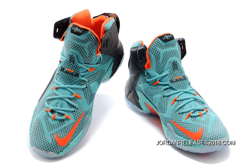 new concept 0fb06 aa0fe ... wholesale 2018 latest nike lebron 12 miami dolphins turquoise grey  crimson black b4733 8b20a