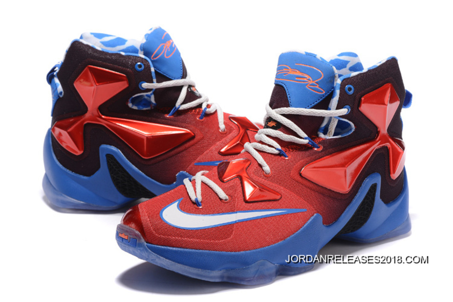 "54b46a52f61f33 Nike LeBron 13 ""USA"" Red White-Blue Basketball Shoes 2018 Outlet ..."