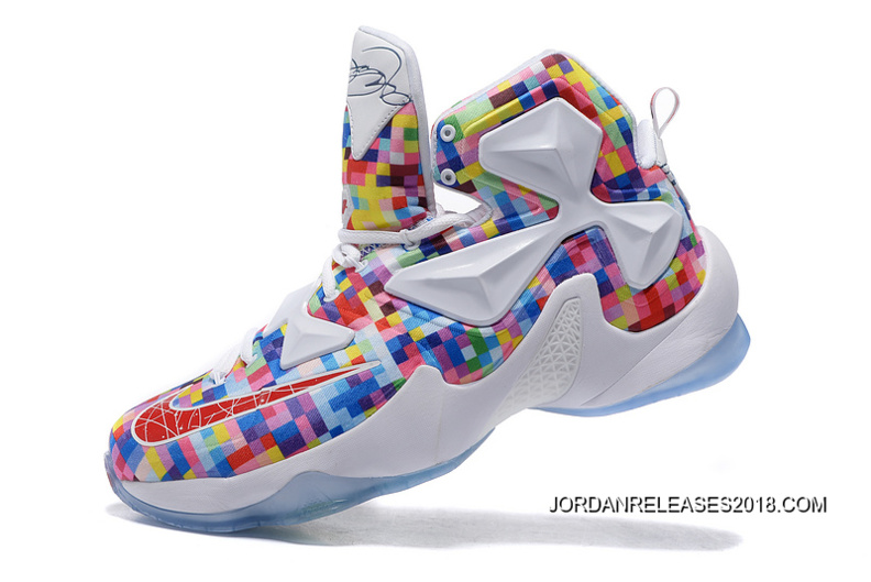 "a081839dbd78 2018 Outlet Nike LeBron 13 ""Prism"" Multi-Color University Red-White ..."