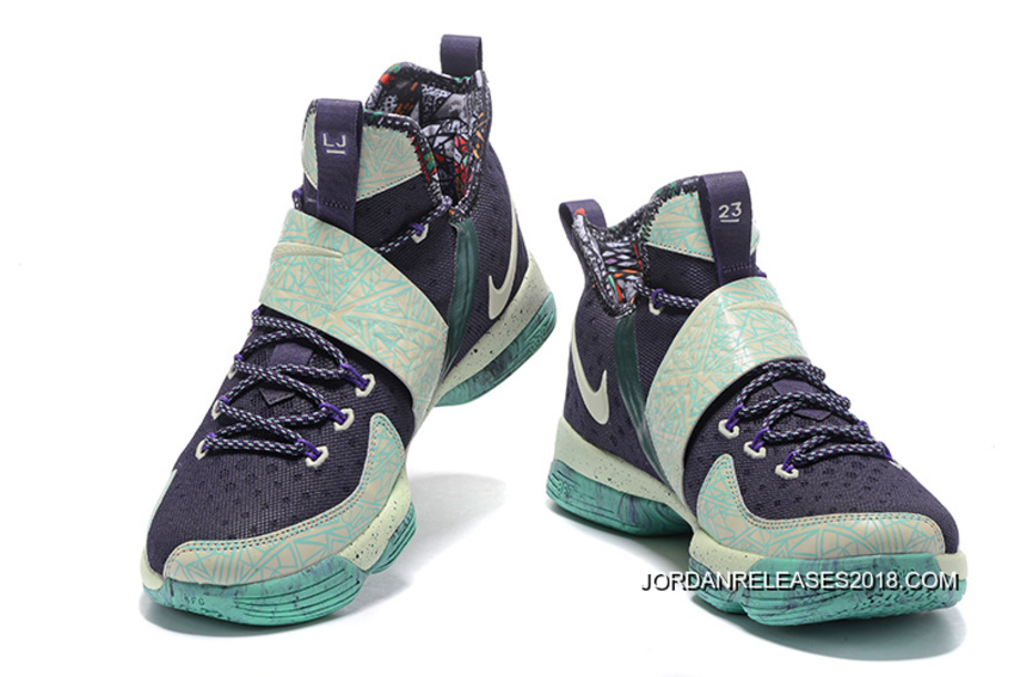 "ae0b9fa66303 Nike LeBron 14 ""All Star"" Purple Dynasty Hyper Grape Glow In The Dark Online"