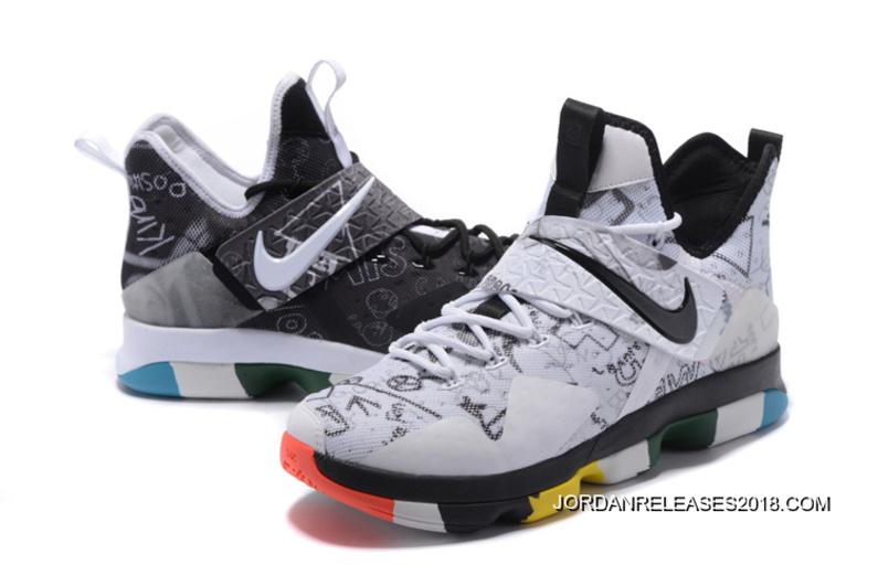 "5fcad339320a1 2018 Online Nike LeBron 14 ""What The"" LeBron James Family Foundation  Graffiti"