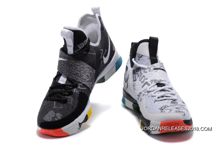 "c2ec3e952c85 2018 Online Nike LeBron 14 ""What The"" LeBron James Family Foundation  Graffiti"