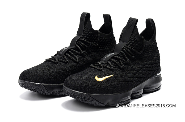 "online store 2940b e05b9 2018 For Sale Nike LeBron 15 ""PK80″ All Black"