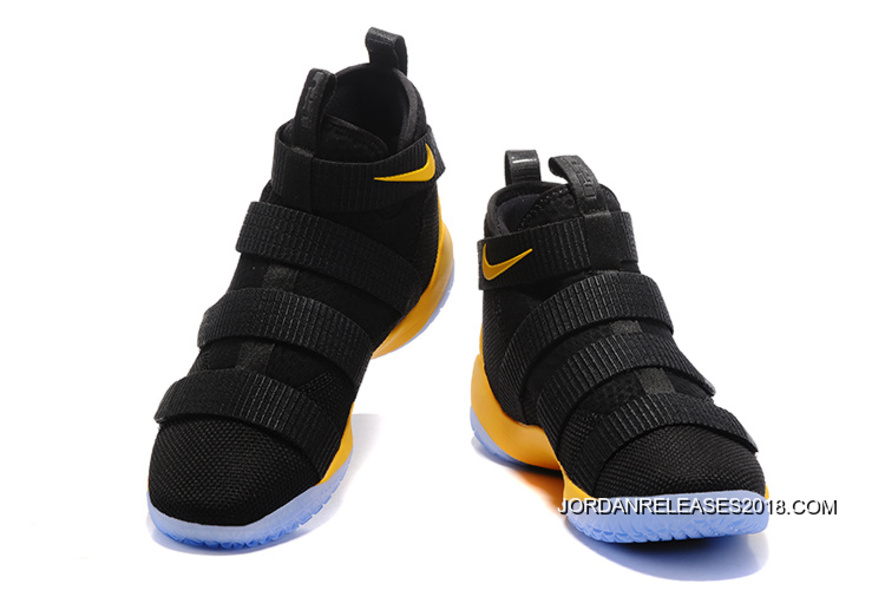 0ebf592066f8 Nike LeBron Soldier 11 Black Yellow-Team Red 2018 Top Deals