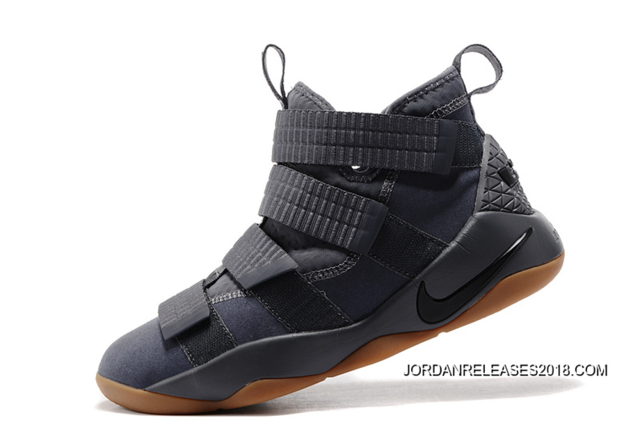 "size 40 ca9a3 bed00 2018 Best Nike LeBron Soldier 11 ""Grey Gum"""