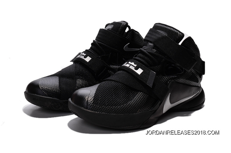 "c85625c716a3fc Nike LeBron Soldier 9 ""Blackout"" All Black Basketball Shoe 2018 Online"