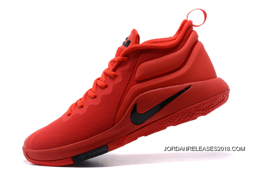 """official photos 853b6 888de 2018 New Release Nike LeBron Zoom Witness 2 """"University Red"""" Basketball  Shoes"""